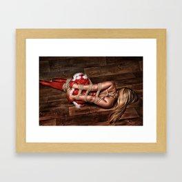 Christmas Babe - Fine Art of Bondage Framed Art Print