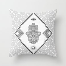 A Blessing (Glitter Grey) Throw Pillow