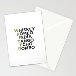 Writer in Phonetic Alphabet Stationery Cards