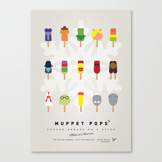 My MINIMAL ICE POPS univers III Canvas Print