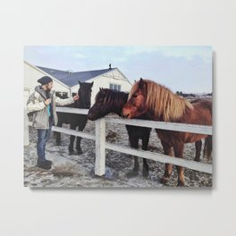 Friendly friend Metal Print
