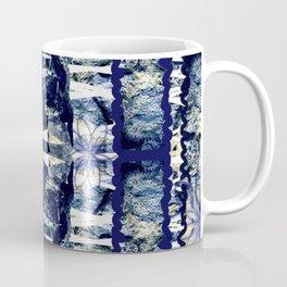 Shibori Indigo Stripes Coffee Mug