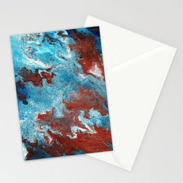 Fantasy in Copper and Blue Stationery Cards