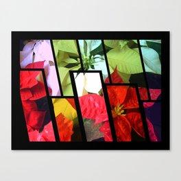 Mixed Color Poinsettias 2 Tinted 1 Canvas Print