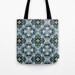 Peacock Blues Tote Bag