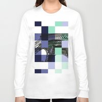 eiffel Long Sleeve T-shirts featuring EIFFEL by Marcela Solana