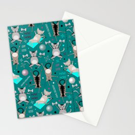 Fitness for cats Stationery Cards