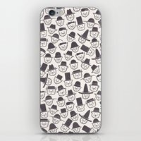 hats iPhone & iPod Skins featuring Cats With Hats by Teo Zirinis