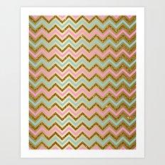 Glitter Chevron Art Print