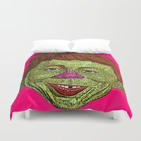 mad men Duvet Covers featuring Alfred E. Newman MAD by CultureCloth