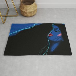 Electric 80s blue Rug