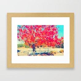 Orange Tree Watercolor  Framed Art Print