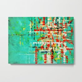 on my street -turquoise abstract Metal Print