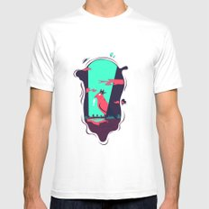 outer glam MEDIUM Mens Fitted Tee White