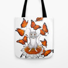 Mouse Butterflies Tote Bag