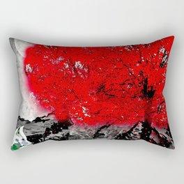 TREE RED WOLF WHITE Rectangular Pillow