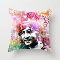 john snow Throw Pillows featuring John by Nato Gomes