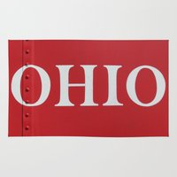 ohio Area & Throw Rugs featuring OHIO by Leah M. Gunther Photography & Design
