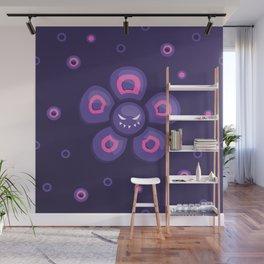 Purple Evil Flower Wall Mural