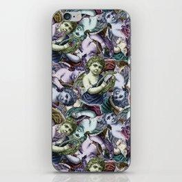 Renaissance Cherub Toss in Jewel Tones iPhone Skin