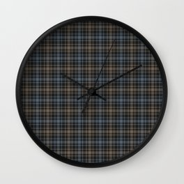 Beautiful plaid 4 Wall Clock