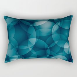 Dark intersecting heavenly translucent circles in bright colors with the blue glow of the ocean. Rectangular Pillow
