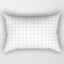 Mini Dots - Pink Grey White Pattern Rectangular Pillow