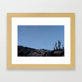 Medicine Bow Startrails Framed Art Print