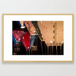 Crafted hot air balloons for lantern festival in Taiwan Framed Art Print