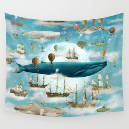 Ocean Meets Sky (from book)- square format Wall Tapestry