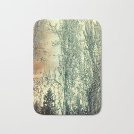 Autumn Poplars, Sunlight Dreaming About You Bath Mat