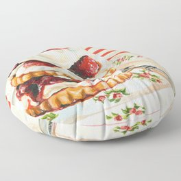 Raspberry Shortcake Floor Pillow