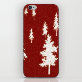 White trees iPhone Skin