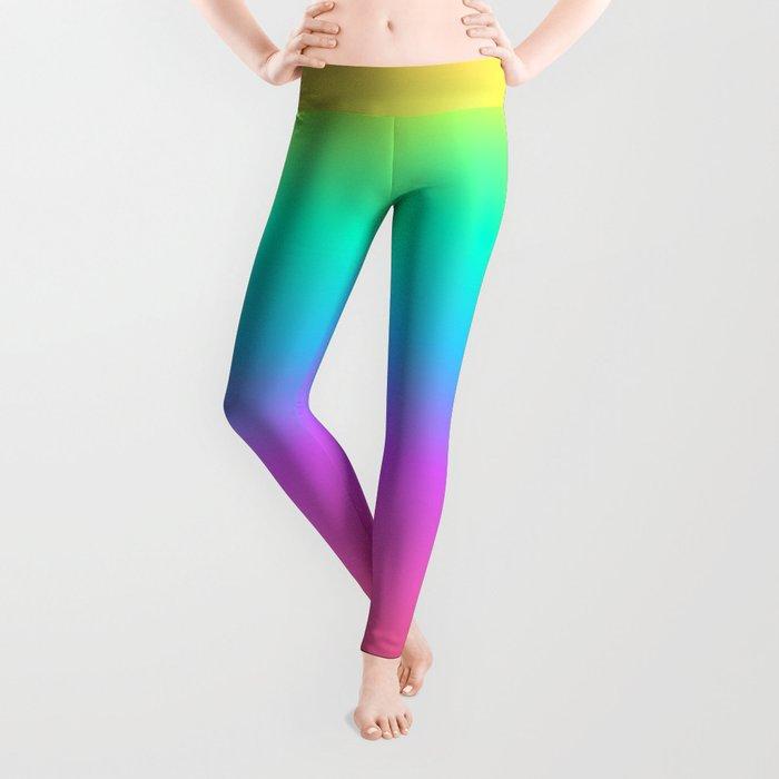 12c8d71a6962 Pastel Rainbow Leggings by julieerindesigns | Society6