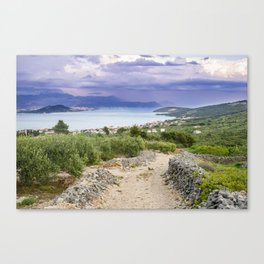 Ciovo island, amazing Croatia Canvas Print