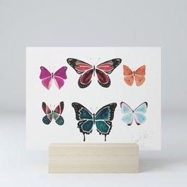The Pink & Blue Butterflies Mini Art Print