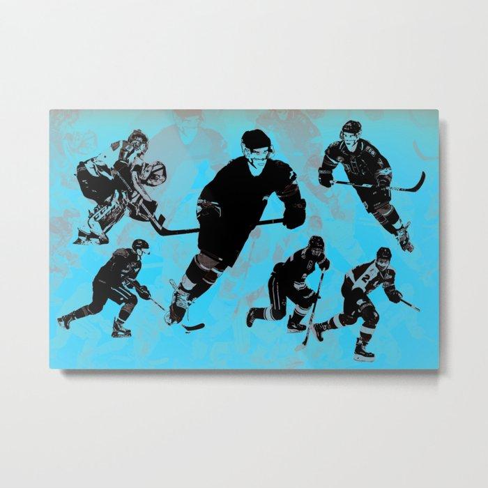 Game on! - Hockey Night Metal Print