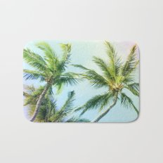 Relaxing Rainbow Color Palms Bath Mat