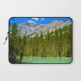 Mt. Robson and the Robson River in British Columbia, Canada Laptop Sleeve