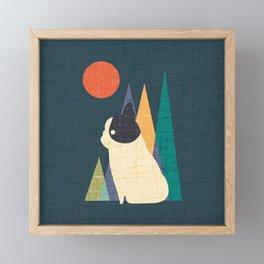 Waiting for You French Bulldog Framed Mini Art Print