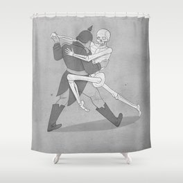 The Lovers- BW Shower Curtain