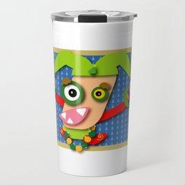 Whimsical Christmas Elf Travel Mug