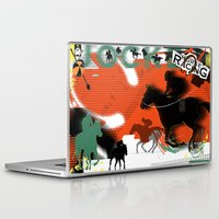 racing Laptop & iPad Skins featuring Horse Racing by Robin Curtiss