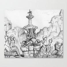 Bronx Zoo: Rockefeller Fountain Canvas Print