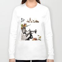 jazz Long Sleeve T-shirts featuring Jazz  by Design4u Studio