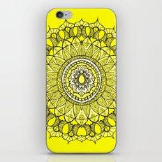 Yellow Sunshine Bohemian Mandala iPhone Skin