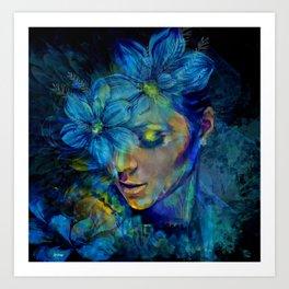 OLD NEW BORROWED BLUE Art Print
