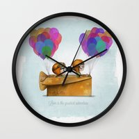 wedding Wall Clocks featuring UP Pixar — Love is the greatest adventure  by Ciara Ni Dhuinn