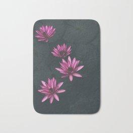 pink and black Bath Mat