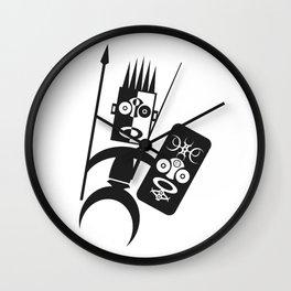 African Warrior Wall Clock
